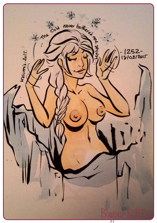 elsa frozen nude